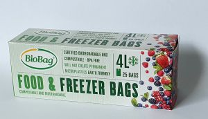 BioBag Freezer Food 4 litres, roll of 25 pcs.