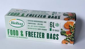 BioBag Freezer Food 6 litres, roll of 20 pcs.