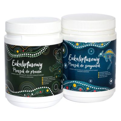Set - Eucalyptus Laundry Powder  1 kg and Eucalyptus Dishwasher Powder 1 kg